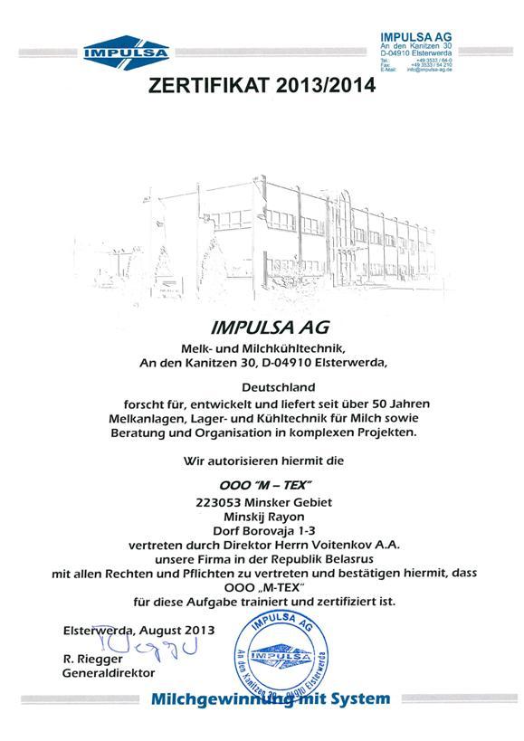 Сертификат Impulsa DE